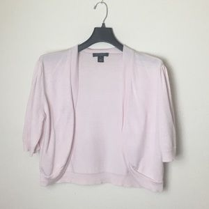 Ralph Lauren light pink short sleeve cardigan
